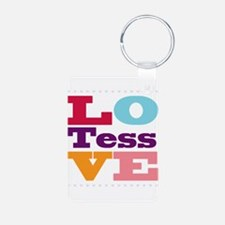 I Love Tess Aluminum Photo Keychain