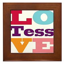 I Love Tess Framed Tile