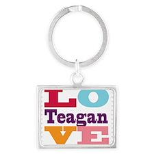 I Love Teagan Landscape Keychain