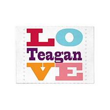 I Love Teagan 5'x7'Area Rug