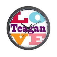 I Love Teagan Wall Clock