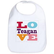 I Love Teagan Bib