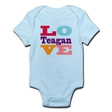 I Love Teagan Infant Bodysuit