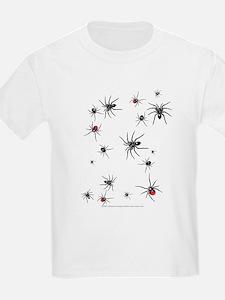 Lotsa Spiders Kids T-Shirt