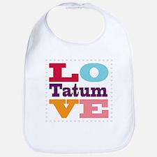 I Love Tatum Bib