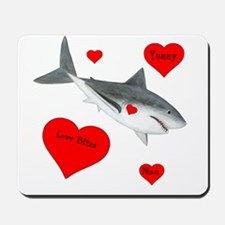 Personalized Shark Mousepad