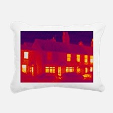 House, thermogram - Rectangular Canvas Pillow
