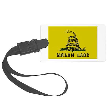 Gadsden Flag Molon Labe Large Luggage Tag