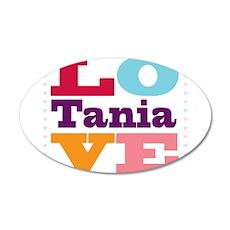 I Love Tania 20x12 Oval Wall Decal