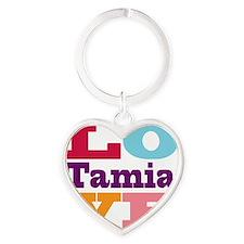 I Love Tamia Heart Keychain
