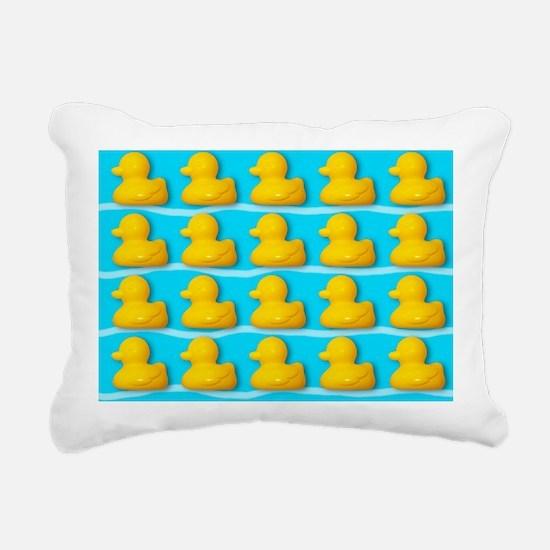 Rubber ducks - Rectangular Canvas Pillow
