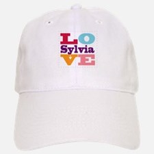 I Love Sylvia Baseball Baseball Cap