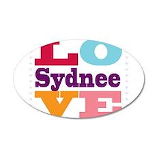 I Love Sydnee Wall Decal