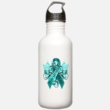 I Wear Teal for Myself Water Bottle