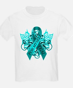 Kids ovarian cancer awareness t shirts ovarian cancer for Ovarian cancer awareness t shirts