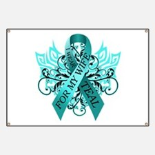 I Wear Teal for my Wife Banner