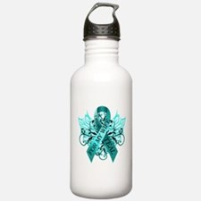 I Wear Teal for my Wife Water Bottle