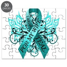 I Wear Teal for my Wife Puzzle