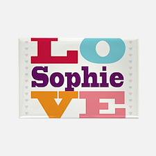 I Love Sophie Rectangle Magnet