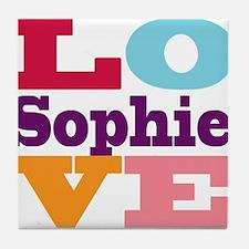 I Love Sophie Tile Coaster