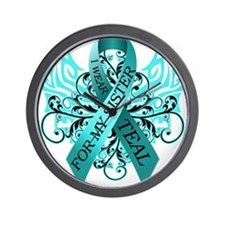 I Wear Teal for my Sister Wall Clock