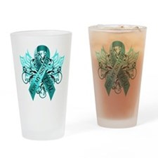 I Wear Teal for my Sister Drinking Glass
