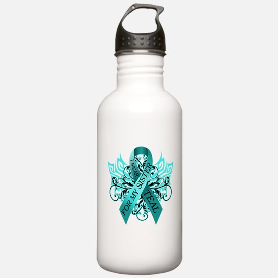 I Wear Teal for my Sister Sports Water Bottle