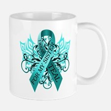 I Wear Teal for my Sister Small Mugs
