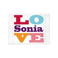 I Love Sonia 5'x7'Area Rug