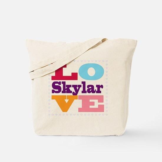 I Love Skylar Tote Bag