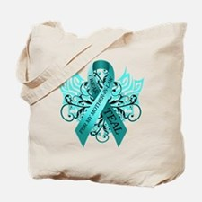 I Wear Teal for my Mother in Law Tote Bag