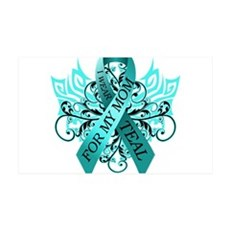 I Wear Teal for my Mom Wall Decal
