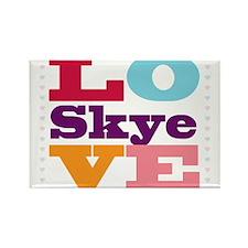 I Love Skye Rectangle Magnet