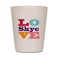 I Love Skye Shot Glass