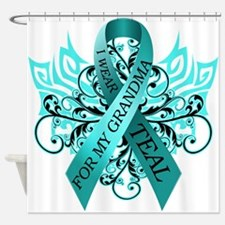 I Wear Teal for my Grandma Shower Curtain