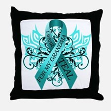 I Wear Teal for my Grandma Throw Pillow
