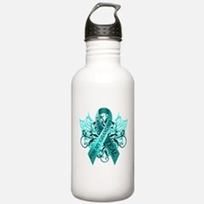 I Wear Teal for my Grandma Sports Water Bottle