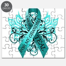 I Wear Teal for my Grandma Puzzle