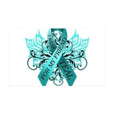 I Wear Teal for my Friend Wall Decal