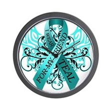 I Wear Teal for my Friend Wall Clock