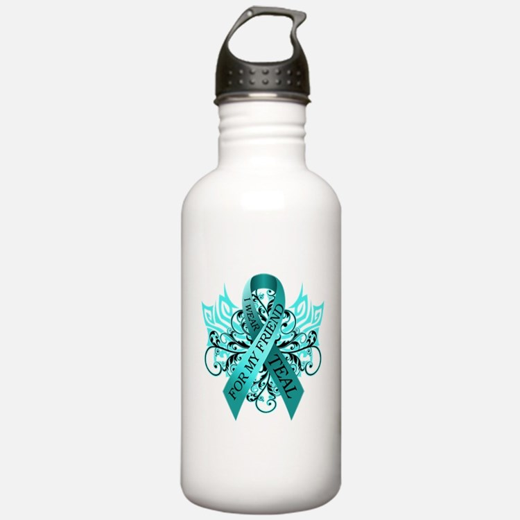 I Wear Teal for my Friend Sports Water Bottle