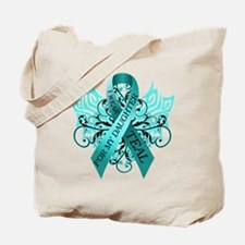 I Wear Teal for my Daughter Tote Bag
