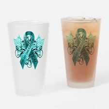 I Wear Teal for my Daughter Drinking Glass