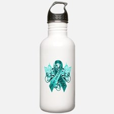 I Wear Teal for my Daughter Sports Water Bottle
