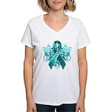 Cervical cancer Womens V-Neck T-shirts