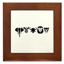 Africa animals big five Framed Tile