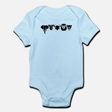 Africa animals big five Infant Bodysuit