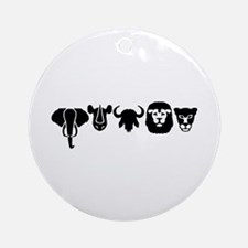 Africa animals big five Ornament (Round)