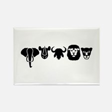 Africa animals big five Rectangle Magnet (100 pack