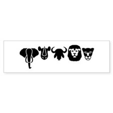 Africa animals big five Bumper Sticker